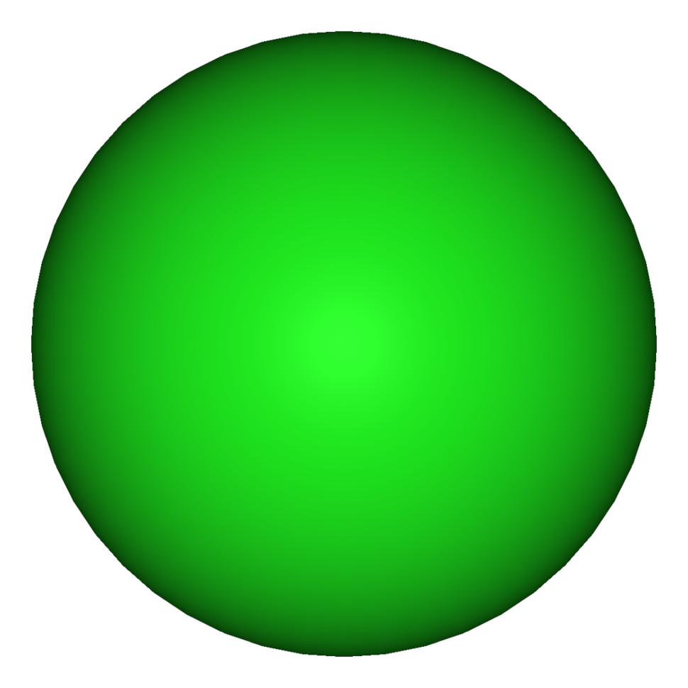 3D model of the chloride anion