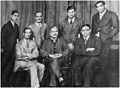 Choudhry Rehmat Ali (seated first from left) with Muhammad Iqbal (center), Khawaja Abdul Rahim (right) and a group of other young activists during Iqbal visit to England in 1932..jpg