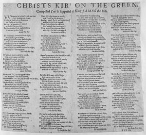 "Christis Kirk on the Green - ""Christis Kirk on the Green"" in a broadside ballad version dating from the beginning of the 18th century"