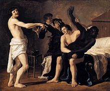 Three Young White Men and a Black Woman (1632) by Christiaen van ...