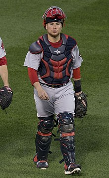Boston Red Sox edit . Vázquez in his catcher s gear ... af70b03eb15