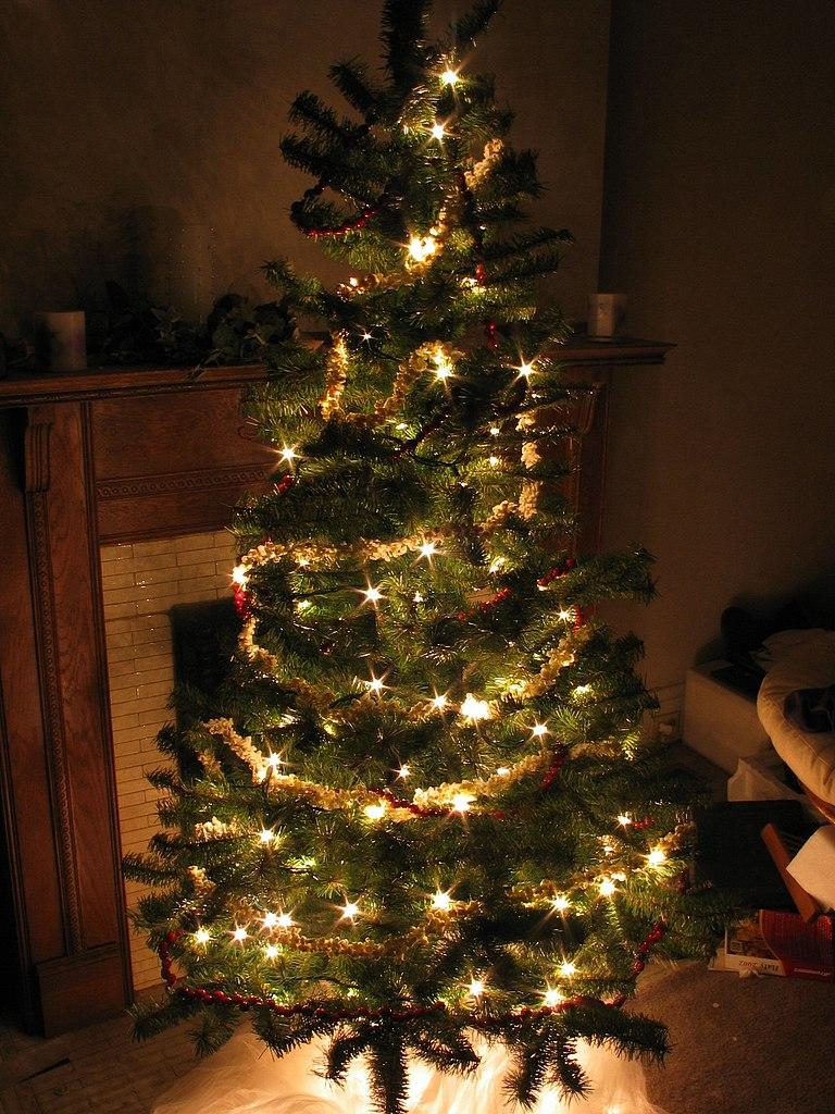 filechristmas tree at nightjpg - How To Store Christmas Tree