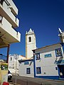 Church Tower and Blue Bell Bar Rua Miguel Bombarda 25 March 2015.JPG