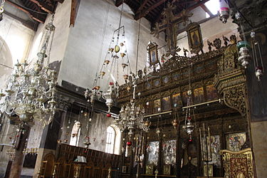 Church of the Nativity iconostasis 2010 4.jpg