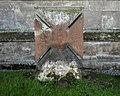 Churchyard headstone cross, St Bartholomew's Church, Tong, Shropshire.jpg