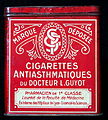 Cigarettes AntiAsthmatiques du Docteur L Guyot, tin, front.JPG