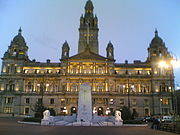 Glasgow City Chambers viewed from George Square