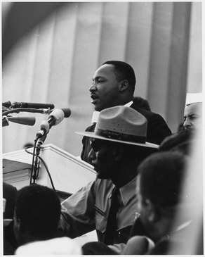 Civil Rights March on Washington, D.C. (Dr. Martin Luther King, Jr. speaking.) - NARA - 542069.tif