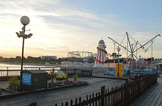 Clacton Pier - Outdoor amusements on the pier in 2013