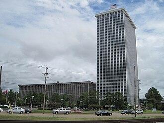 East Memphis, Memphis, Tennessee - Image: Clark Tower Memphis TN 02
