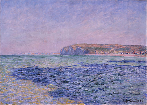 Claude Monet - Shadows on the Sea. The Cliffs at Pourville - Google Art Project