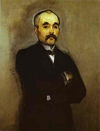 El retrato deGeorges Clemenceaupor el pintorÉdouard Manet.