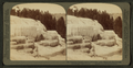 Cleopatra Terrace and its mirror like pools - Mammoth Hot Springs, Yellowstone Park, U.S.A, by Underwood & Underwood 2.png