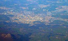 Vue aérienne de Clermont-Ferrand