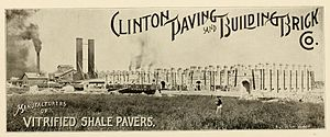 Clinton, Indiana - Clinton Paving and Building Brick Company circa 1913