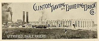 Clinton, Indiana - Clinton Paving and Building Brick Company circa 1913
