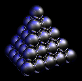 Thermodynamic temperature - Fig. 8 When many of the chemical elements, such as the noble gases and platinum-group metals, freeze to a solid — the most ordered state of matter — their crystal structures have a closest-packed arrangement. This yields the greatest possible packing density and the lowest energy state.