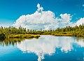 Clouds reflected in lake (43896133752).jpg