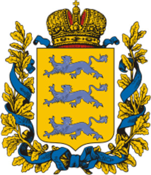 Governorate of Estonia - Image: Coat of Arms of Estland gubernia (Russian empire)