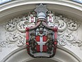 Coat of arms above the entrance of the Italian Hospital, Queen Square - Boswell Street, WC1 - geograph.org.uk - 1304811.jpg