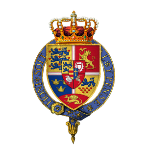 Coat of arms of Frederick II, King of Denmark and Norway, KG.png