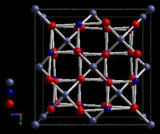 Cobalt(II,III) oxide - Image: Cobalt(II,III) oxide unit cell 2006 CM perspective 3D balls