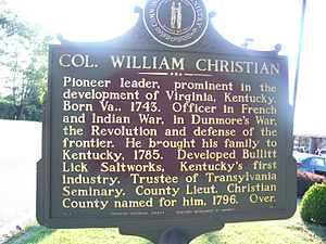 William Christian (Virginia) - Image: Colchristian