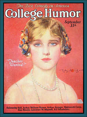College Humor (magazine) - Cover of the September, 1925 issue.