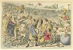 Comic History of Rome Table 07 Flaminius restoring Liberty to Greece at the Isthmian Games.jpg