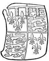Fig. 718.—Richard, Duke of York (son of Edward, Earl of Cambridge and Duke of York): Arms as preceding. (From his seal, 1436.)