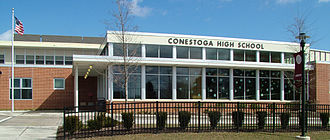 Paoli, Pennsylvania - Conestoga High School serves portions of Paoli CDP within Tredyffrin Township.