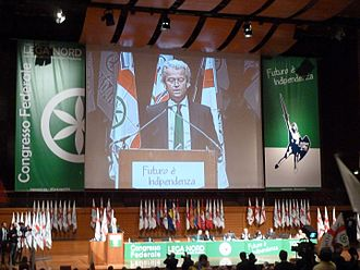 Party for Freedom - Geert Wilders speaking at a Lega Nord event in 2013