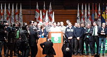Discorso di Salvini prima di essere eletto segretario federale della Lega Nord.