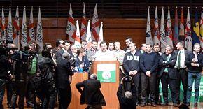 Discorso di Salvini prima di essere eletto segretario federale della Lega Nord