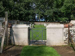Contalmaison - entrance to Contalmaison Chateau cemetery