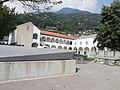 Convento delle agostiniane a Monte Carasso, progetto di Luigi Snozzi, veduta generale con dettagli.jpg