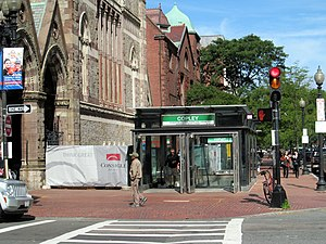 Copley (MBTA station) - New outbound headhouse in 2014