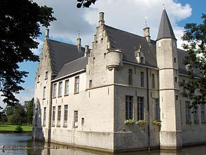 Beveren - Castle of Cortewalle residence of the Lord of Beveren, the Goubau family.