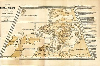 Northern Europe - A map of Northern Europe after Ptolemy