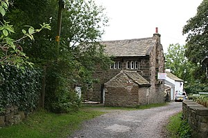 Listed buildings in Worsthorne-with-Hurstwood - Image: Cottage in Hurstwood, Lancashire