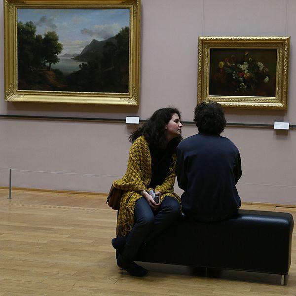 File:Couple de visiteurs lors d'une nocturne.jpg