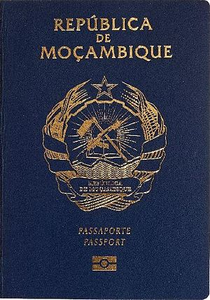 Mozambican passport - Mozambican biometric passport cover