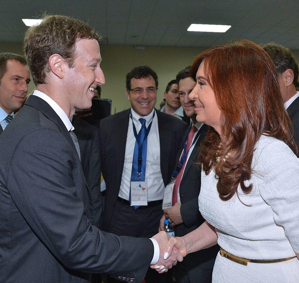 Cristina Kirchner and Mark Zuckerberg