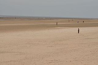 Crosby Beach Beach near Liverpool, England