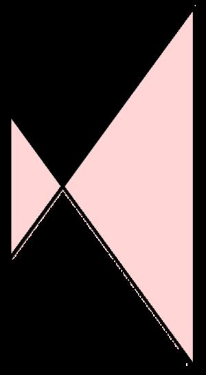 Isosceles trapezoid - Image: Crossed isosceles trapezoid
