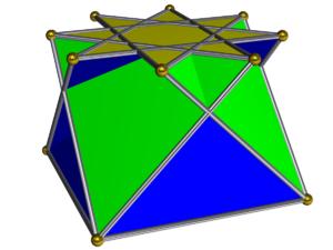 Crossed square cupola