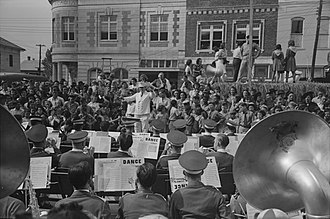 National Rice Festival, Crowley, Louisiana, 1938 CrowleyConcertBand1938RussellLee.jpg