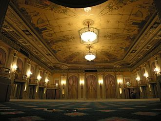 Thinking Out Loud - Filming of the video took place at the Crystal Ballroom of the Biltmore Hotel in Los Angeles