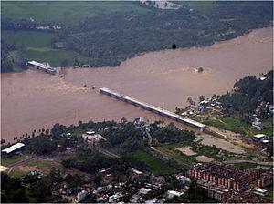 Cyclone Hudhud - A blown away bridge near Visakhapatnam