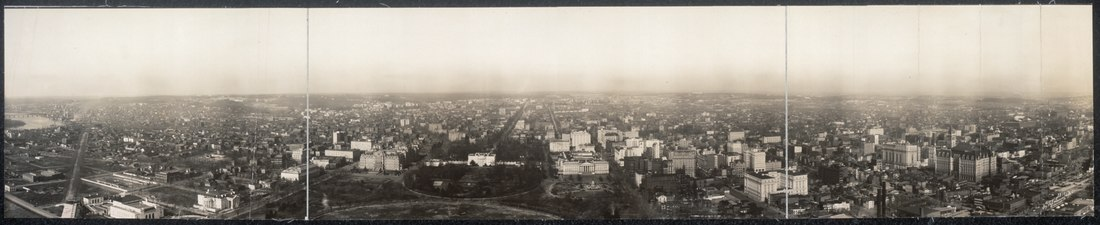 View from the Washington Monument looking north - 1912